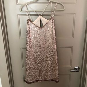 Saylor Metallic cocktail dress